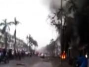 Video An ninh - Clip hiện trường vụ nổ kinh hoàng ở KĐT Văn Phú
