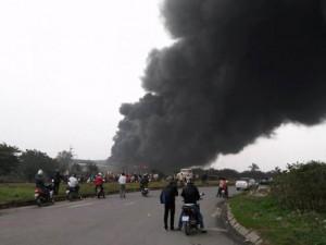 Vĩnh Phúc: Cháy lớn tại nhà máy Viglacera