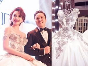 Thời trang - Váy hot nhất tuần: Đầm cưới 20kg của Đinh Ngọc Diệp
