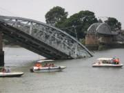 Tin tức trong ngày - Bắt chủ tàu đẩy sà lan tông sập cầu Ghềnh