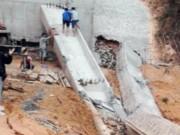 Video An ninh - Quảng Ninh: Sập dầm cầu khi đang thi công