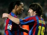 """Bóng đá - """"Phù thủy"""" Ronaldinho - Messi: Ai mới là """"Vua"""" ở Barca?"""
