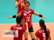 Thể thao - Hot-girl bóng chuyền Linh Chi xả thân cứu nguy