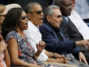 Khủng bố ở Bỉ, Obama điềm nhiên xem bóng chày ở Cuba