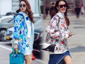 Thời trang - Minh Hằng mang loạt phụ kiện hàng hiệu tới Hàn Quốc