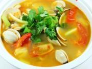 Ẩm thực - Canh ngao nấu riêu thanh mát bữa cơm trưa