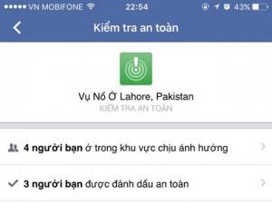 Đánh bom ở Pakistan: Facebook gửi cảnh báo nhầm cho cả TG