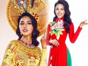Váy - Đầm - Khả Trang mang mấn vàng ròng đi thi quốc tế