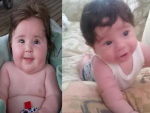 """Thế giới - Những em bé mới sinh tóc dài """"sành điệu"""" như người lớn"""