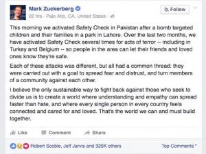 Công nghệ thông tin - Liên tục xảy ra khủng bố, Mark Zuckerberg nghĩ gì?