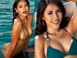 """Nguyễn Thị Loan khoe thân hình """"rực lửa"""" với bikini"""
