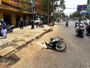 An ninh Xã hội - Hai nữ sinh viên bị tạt axit giữa phố ở Sài Gòn