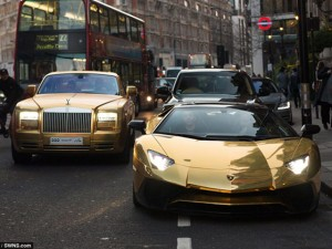"""Ô tô - Xe máy - Đại gia Ả Rập mang đoàn siêu xe dát vàng """"đại náo"""" London"""