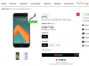 HTC 10 nhận đơn đặt hàng, giá 18,5 triệu đồng
