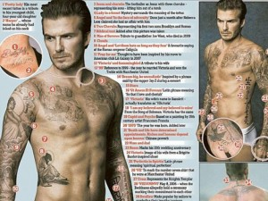 Làm đẹp - David Beckham ngồi 5 tiếng để có hình xăm thứ 41