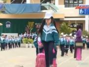 """Video An ninh - Học sinh tiểu học Lâm Đồng """"tưởng tượng"""" bị bắt cóc"""