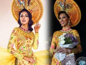 Chân dài Khả Trang lọt top 3 Quốc phục đẹp nhất
