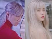 Sơn Tùng và bạn gái gây sốt với mái tóc bạch kim