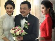 """Hoa hậu Thu Ngân kiều diễm  """" động lòng người """"  trong đám hỏi"""