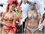 Choáng ngợp loạt bikini siêu sặc sỡ và nóng bỏng của Rihanna