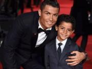 Ronaldo và quý tử: Cặp bố con sang chảnh bậc nhất làng túc cầu