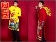 """"""" Trai nhảy """"  Ngọc Thuận gợi ý quý anh mặc áo dài kiểu vest đón Tết"""