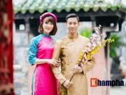 Tiến Minh - Vũ Thị Trang đăng ảnh Tết đẹp như tranh