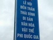Lãnh đạo Thái Bình nói gì về biển quảng cáo đền Trần  phi quốc gia ?