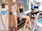Đời sống Showbiz - 4 chị em chân siêu dài nhà bạn gái Sơn Tùng khiến mày râu chao đảo