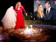 Bị tỉ phú hủy hôn, diva đốt váy cưới 5,6 tỉ đồng