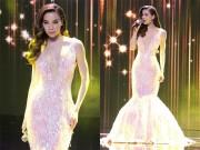 Thời trang - Hồ Ngọc Hà sexy mê ly với váy xẻ ngực sâu hút