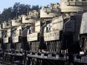 Thế giới - Xe tăng Mỹ rầm rộ tới biên giới Latvia giáp Nga