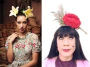 """Học theo  """" Cám """"  Thành Lộc, Lilly Nguyễn cũng hoa cài mái tóc"""