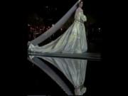 Váy cưới vợ tỷ phú đính 24.000 mảnh kim cương
