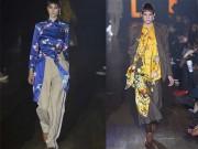 """"""" Choáng """" với áo dài Việt phối vest lên sàn diễn thế giới"""