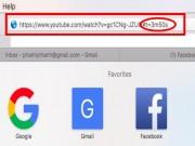 Chia sẻ video YouTube với khởi điểm phát tùy ý