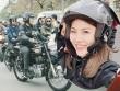 """Cô gái đẹp gây sốt giữa 160 mô tô """"khủng"""" diễu hành tưởng nhớ Trần Lập"""