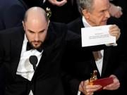 Khoảnh khắc xấu hổ nhất trong lịch sử 90 năm của Oscar