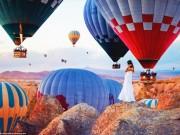 Bộ ảnh khinh khí cầu đẹp như cổ tích ở Thổ Nhĩ Kỳ