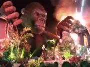 Sân khấu 1 tỷ của phim Kong trước và sau khi cháy rụi