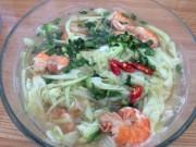 Ẩm thực - No căng bụng với canh chua bông so đũa nấu tôm