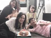 """Phim - Xuân Bắc """"nằm dài"""" trong tiệc sinh nhật BTV Hoài Anh"""