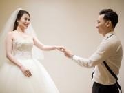 Hé lộ váy cưới cầu kỳ giá trăm triệu của vợ MC Thành Trung