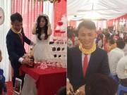 Bạn trẻ - Cuộc sống - Sự thật về đám cưới kỳ lạ chú rể đeo đầy vòng vàng gây xôn xao mạng