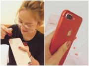 """""""Té ngửa"""" với cách Thuý Vi làm để có được chiếc iPhone7 đỏ"""
