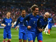 """Trọng tài  """" bẻ còi """"  trận Pháp - TBN nhờ công nghệ cao"""