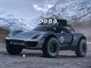 "Xem Porsche 918 Spyder  "" biến hình ""  thành xe việt dã"