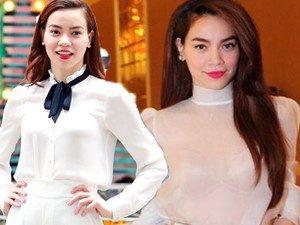 Thời trang - Học Hồ Ngọc Hà cách chinh phục màu trắng
