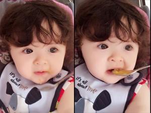 Bạn trẻ - Cuộc sống - Clip: Bé Cadie Mộc Trà ăn bánh cực dễ thương