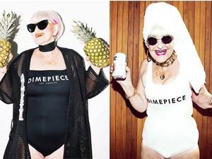 Đồ lót - đồ bơi - Cụ bà 86 tuổi cuốn hút kỳ lạ quảng cáo áo tắm